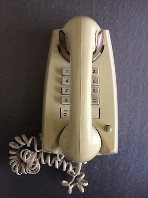 Vintage Telecom Australia Cream Push Button Wall Telephone