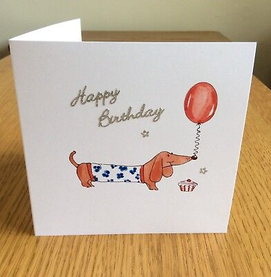 Sister Birthday Card Dachshund Dog Cute Sausage Dog Special Handmade