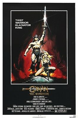 Conan The Barbarian 1982 Movie Poster Print A0-A1-A2-A3-A4-A5-A6-MAXI - CL102