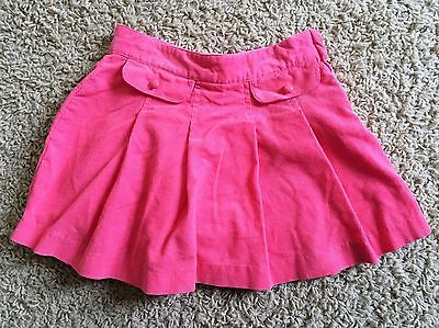 Janie & Jack girls size 4 pink cord lined skirt