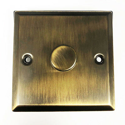 Sale - Anitique Brass Effect 1 Way 1 Gang Dimmer Switch Dimming Light 240V