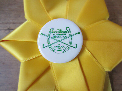 Vth 25Th Anniversary New England Branch P.h.a. Yellow Horse Show Ribbon 7/18/74