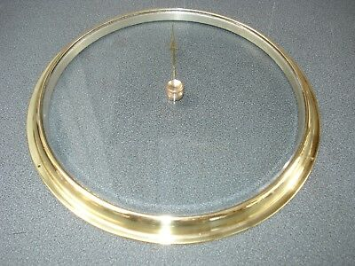 Aneroid Barometer Bevel Edge Glass & Brass Bezel 223 Mm Dia Parts Spares