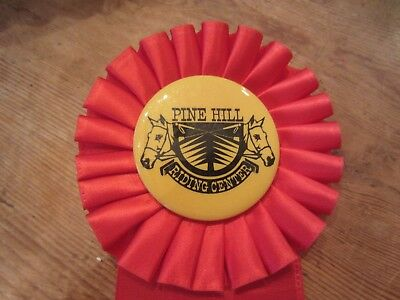Vintage Pine Hill Riding Center Horse Show Red Ribbon 1974