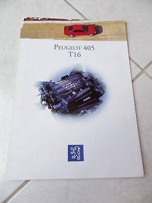Peugeot 405 T16 1993 catalogue brochure dépliant prospekt commercial sales