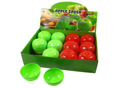 2x Apple Saver Keeper Store Container Fresher For Longer School Kids Fruit SYD