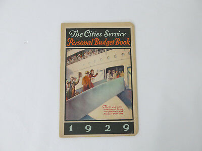 The Cities Service Company, OILS, 1929 PERSONAL BUDGET BOOK New Old Stock
