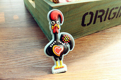 Portugal Rooster Tourist Travel Souvenir 3D Rubber Fridge Magnet GIFT IDEA