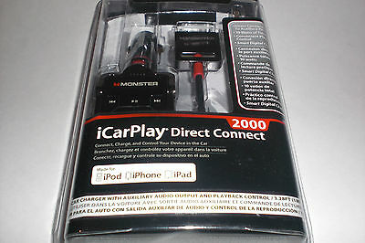 Monster iCarPlay Direct Connect 2000 Car Charging & Data Sync Cable for iPad 2