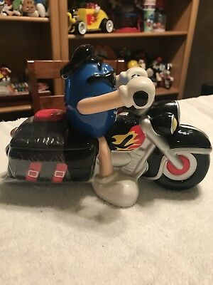 Galerie 2003 M&M COOL BLue on Firey Motorcycle Ceramic Candy Dish