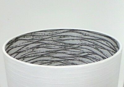 Leanne White Linen Style Lampshade c/w Fryetts Linear Silver / Grey Interior