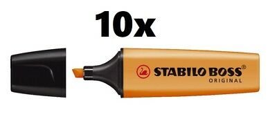 10 x Stabilo Textmarker Original Boss 2 - 5 mm, orange
