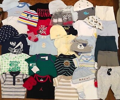 Lot Of Baby Boy Clothes Size NB 0-3M EUC