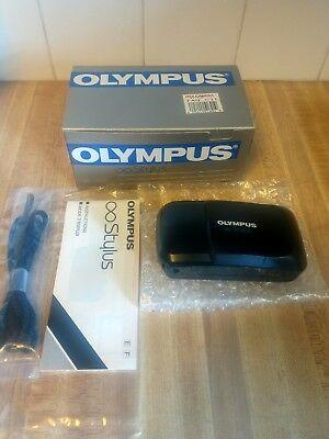 Olympus Infinity Stylus 35mm Point & Shoot Film Camera With Box