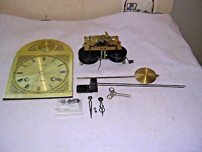CLOCK  PARTS,MOVEMENt,CHIME, HANDS,PENDULUM ,KEY   7