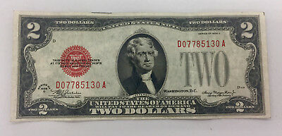 1928 D $2 Note Red Seal Note