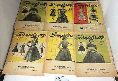 1952 Simplicity Fashion Preview Pattern Catalog Circulars Lot of 6 Vintage #1