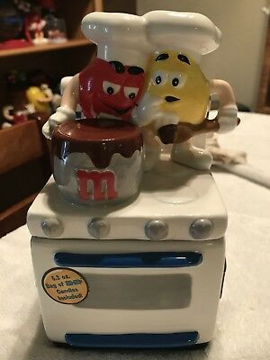M&M's COLLECTIBLE Cooking stove Cookie Jar Displayed Only