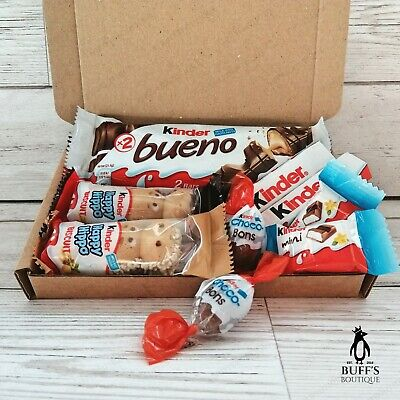 SMALL Kinder Chocolate Sweet Hamper Selection Mix Gift Box Treat Personalised!