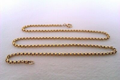 Extremely Rare & Heavy 18ct Gold Fancy Link Edwardian Neck Chain Circa 1907