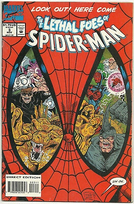 The Lethal Foes of Spider-man #3 VG/FN Nov 1993 Doctor Octopus Rhino Vulture