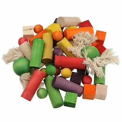 Happy Pet Wooden Play Blocks Jumble Parrot Toy
