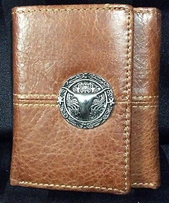 Leather Longhorn Brown Hair On - New Wallet 5001-A mens wallets Brigalow