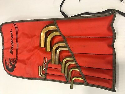 New Snap-on AWM140DK 14 Piece Metric MM L-Shaped Hex Key Wrench Set in Pouch