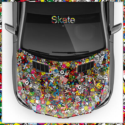 Skate Sticker Bomb Car Wrapping 30x150cm Air Ducts, Car-Wrapping, Brand & Logos