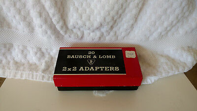 Bausch & Lomb slide adapters 2x2 box of 20, several available