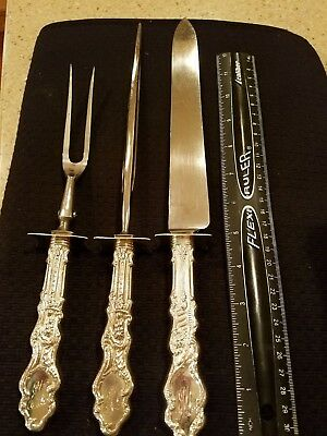 "Versailles by Gorham Sterling Silver Roast Large Carving Set 3pc 14"" 1800's"