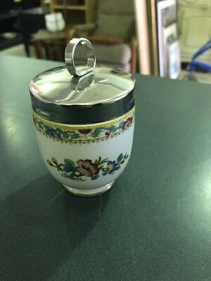 Coalport Ming Rose Egg Coddler And Lid 3 1/4 Inches - Mint Condition