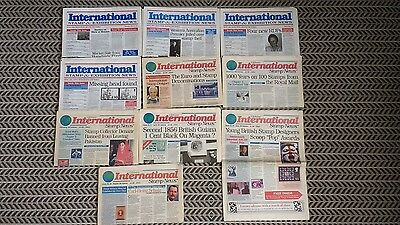 Gibbons International Stamp And Exhibition News 10 Issues Between 1997 And 1999