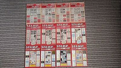 Stamp And Coin Mart Magazine January 1988 To December1988