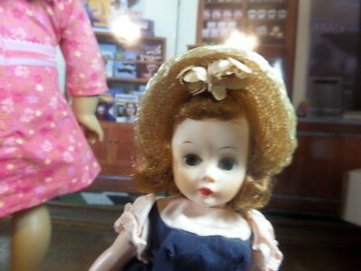 "1950's Madame Alexander About 10"" CISSETTE DOLL Nice REDHEAD!  Tagged Dress"
