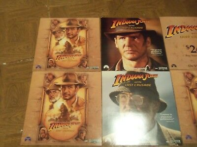INDIANA JONES & THE LAST CRUSADE * Wall Flats Posters & The Temple of Doom 1985