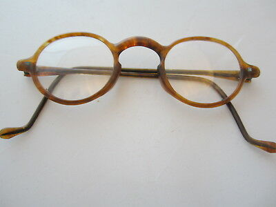 Vintage Round Spectacle  Lennon Gandhi Glasses Antique WWII