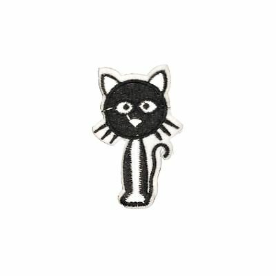 Black Cat (Iron On) Embroidery Applique Patch Sew Iron Badge
