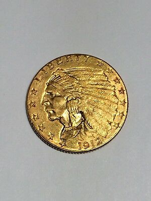1912 $2.50 Gold Indian Head