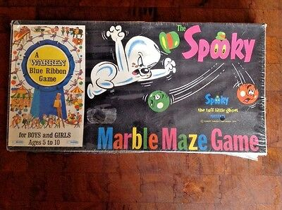 1971 The Spooky Maze Marble Game Warren Blue Ribbon UNOPENED SEALED Halloween
