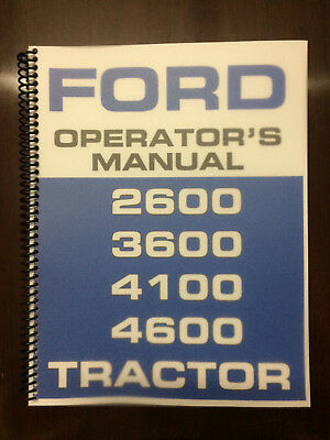 Ford 2600 3600 4100 4600 Tractor Operators Manual Owners Manual