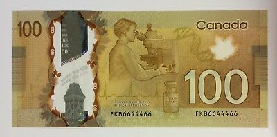 Bank of Canada 2011 $100  two digit RADAR in EF condition. N1238