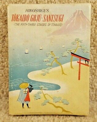 Vintage Hiroshige's Tokaido Goju Santsugi The Fifty Three Stages of Tokaido Book