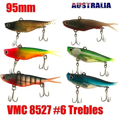 10 Soft Plastic Vibe Fishing Lures Tackle  Barra Snapper Jack Cod Fish Lure