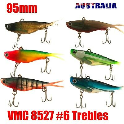 12 Soft Plastic Vibe Fishing Lures Tackle  Barra Snapper Jack Cod Fish Lure