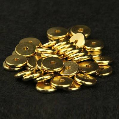 Varisized Gold Plated Flat Disc Metal Spacer Beads DIY Jewelry Findings