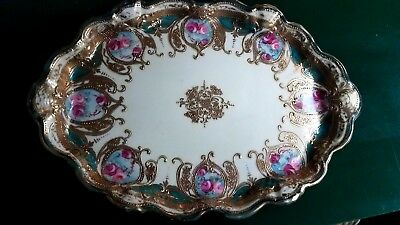 Hand Painted Nippon Dresser Tray - Gold Moriage