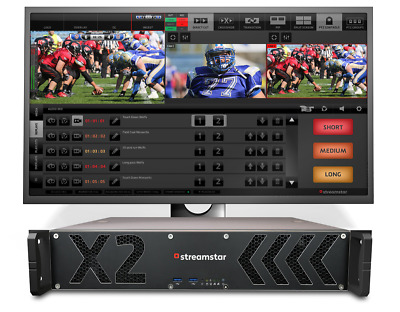 New Streamstar 2Ru Rackmount Live Production And Streaming System With 2X Hdm...