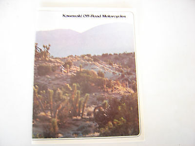 1978 Kawasaki Off Road Motorcycles 8 page Brochure NOS.
