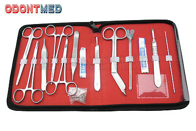 New 18 pcs Minor Surgery Set Stainless Steel /Case Surgical Instruments Kit
